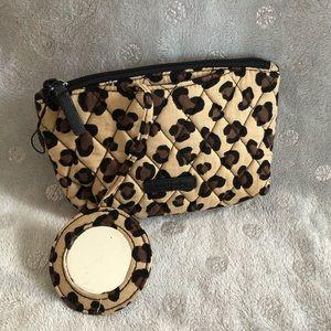 Vera Bradley cosmetic bag leopard pattern
